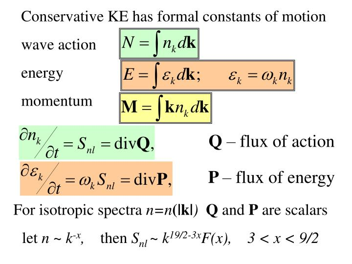 Conservative KE has formal constants of motion