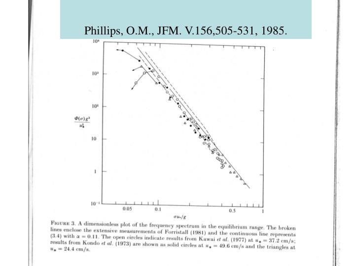 Phillips, O.M., JFM. V.156,505-531, 1985.