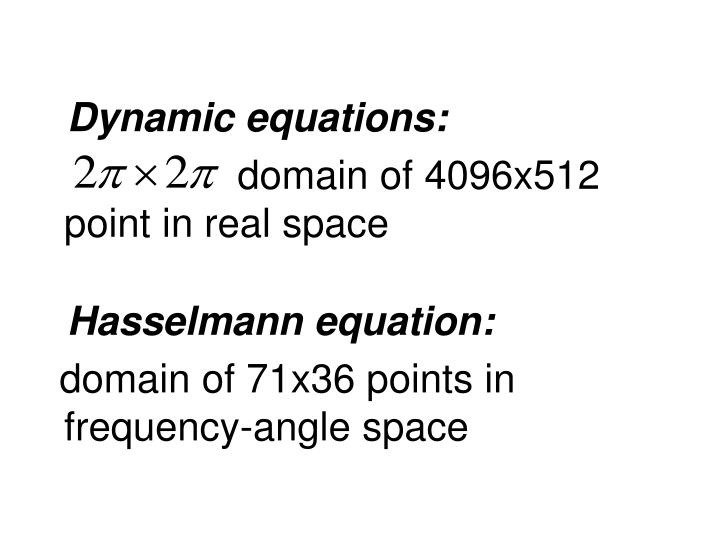 Dynamic equations: