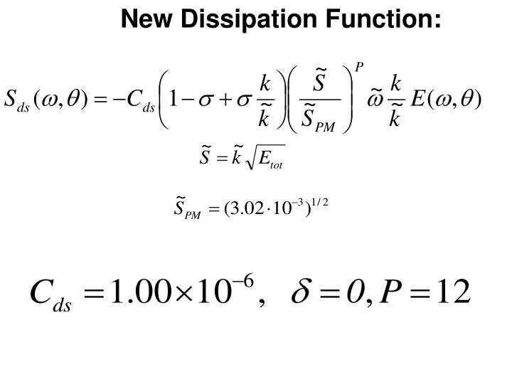 New Dissipation Function: