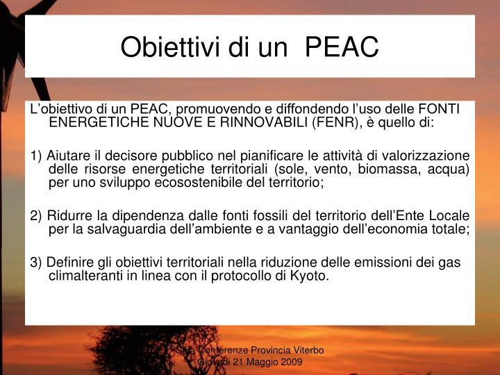 Obiettivi di un  PEAC