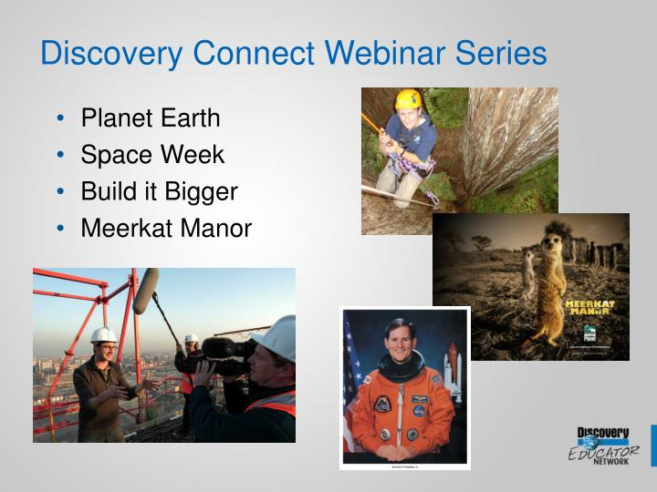 Discovery Connect Webinar Series