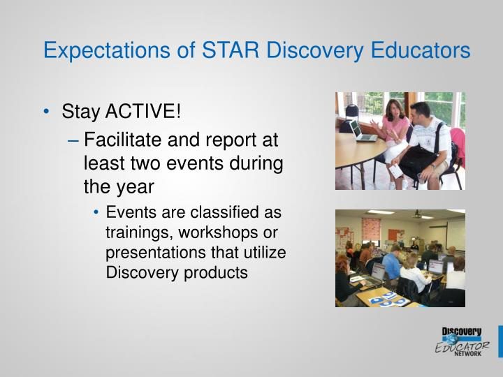 Expectations of STAR Discovery Educators