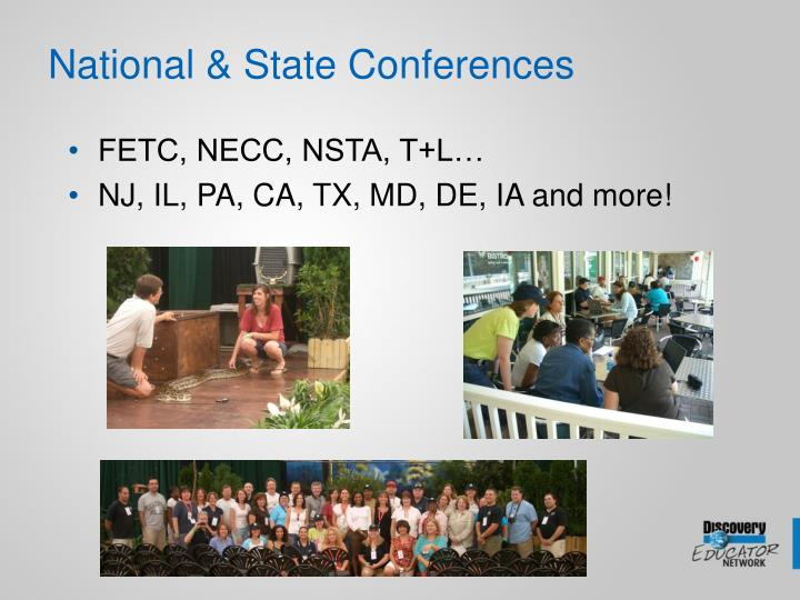 National & State Conferences