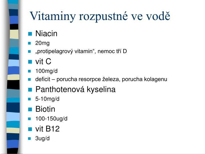 Vitaminy rozpustné ve vodě
