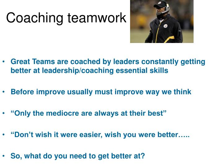 Coaching teamwork