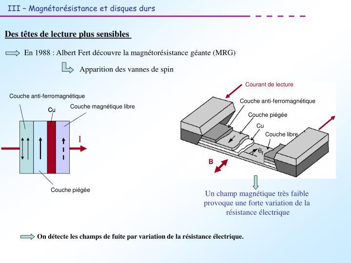 Couche anti-ferromagnétique