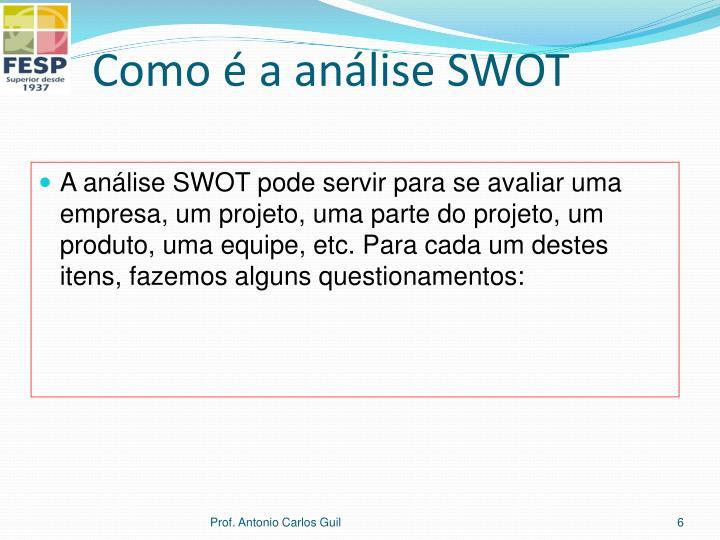 Como é a análise SWOT