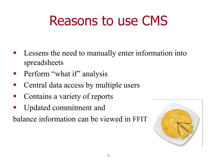 Reasons to use CMS