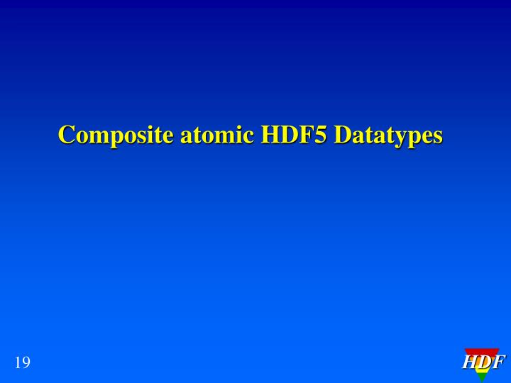 Composite atomic HDF5 Datatypes