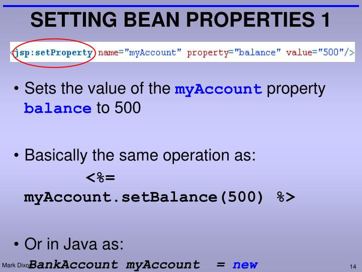 SETTING BEAN PROPERTIES 1