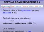 setting bean properties 1