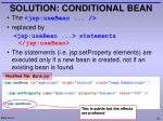 solution conditional bean