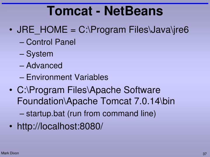 Tomcat - NetBeans