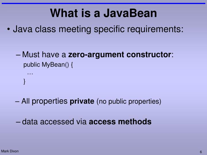 Java class meeting specific requirements:
