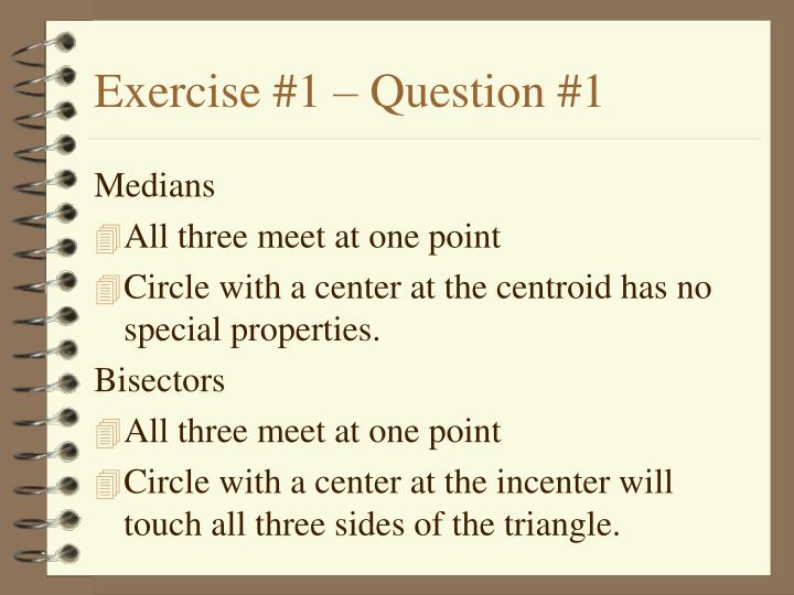 Exercise 1 question 1