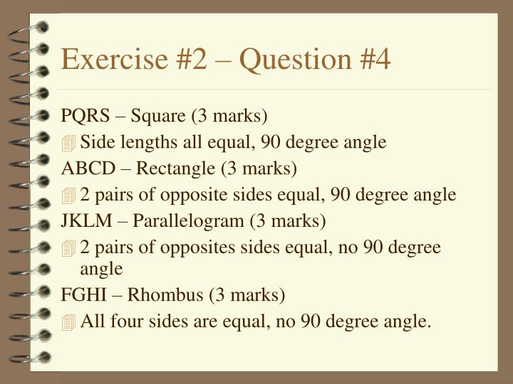 Exercise #2 – Question #4