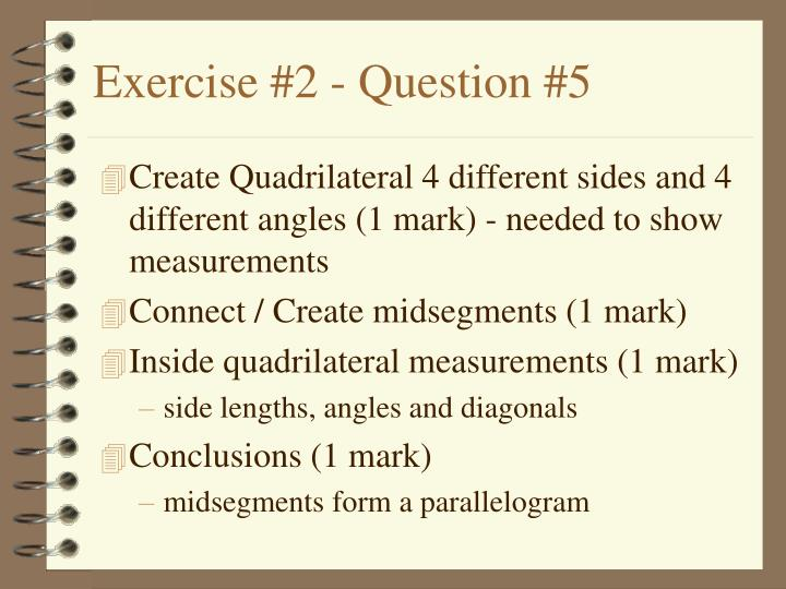 Exercise #2 - Question #5