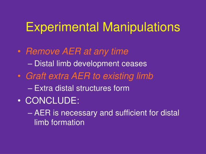 Experimental Manipulations