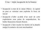 crise triple incapacit de la finance