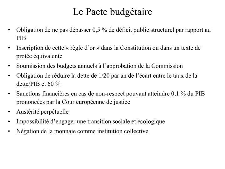 Le Pacte budgétaire