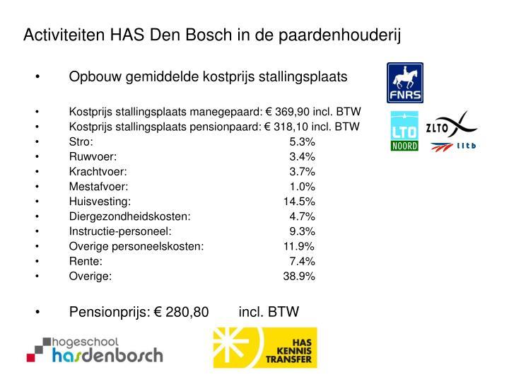 Activiteiten HAS Den Bosch in de paardenhouderij