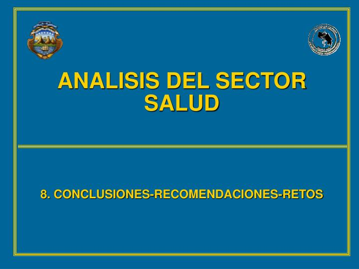 ANALISIS DEL SECTOR SALUD