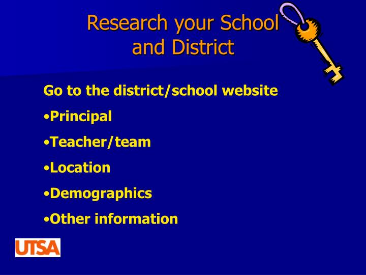 Research your School