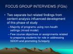 focus group interviews fgis
