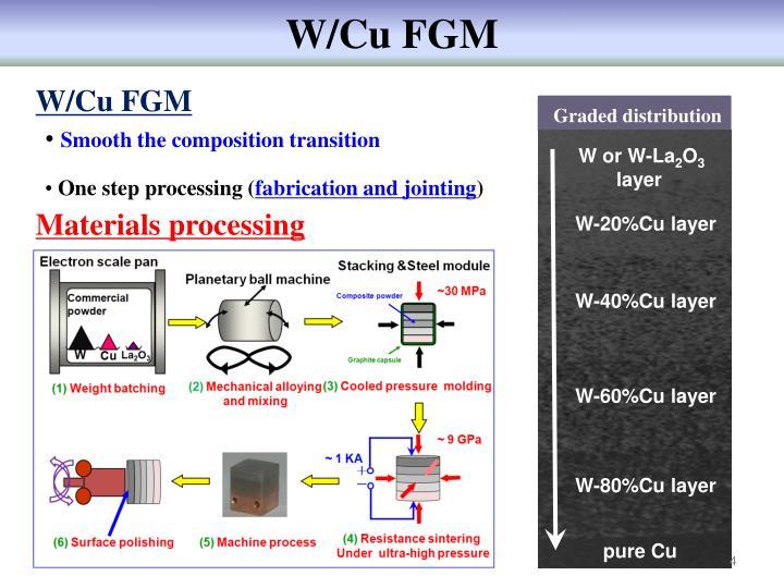 W/Cu FGM