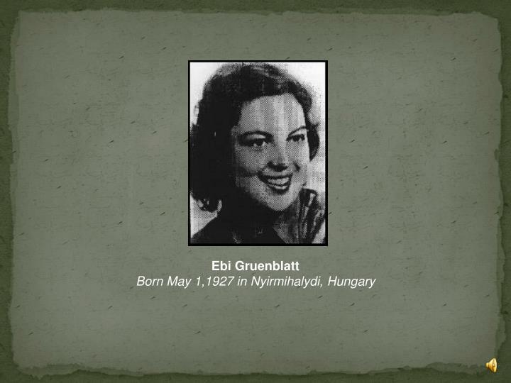 Ebi Gruenblatt