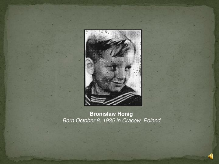 Bronislaw Honig