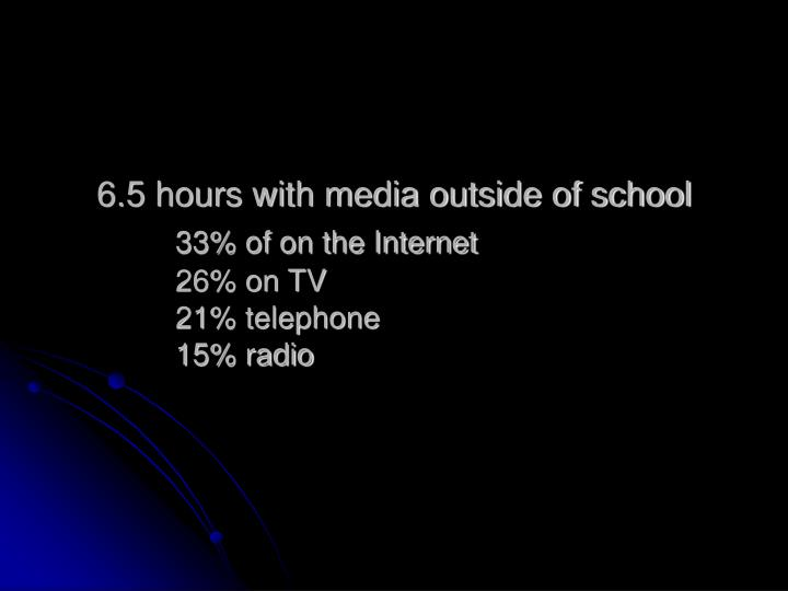 6.5 hours with media outside of school