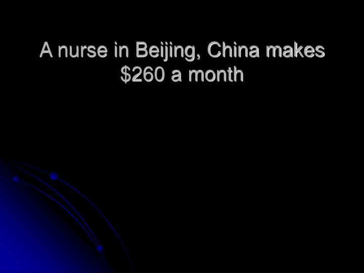 A nurse in Beijing, China makes