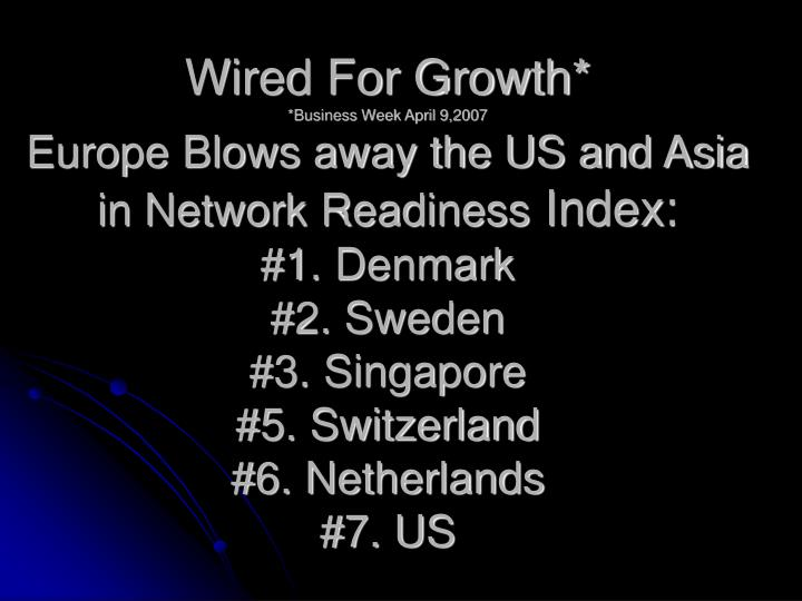 Wired For Growth*