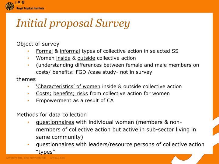 Initial proposal Survey
