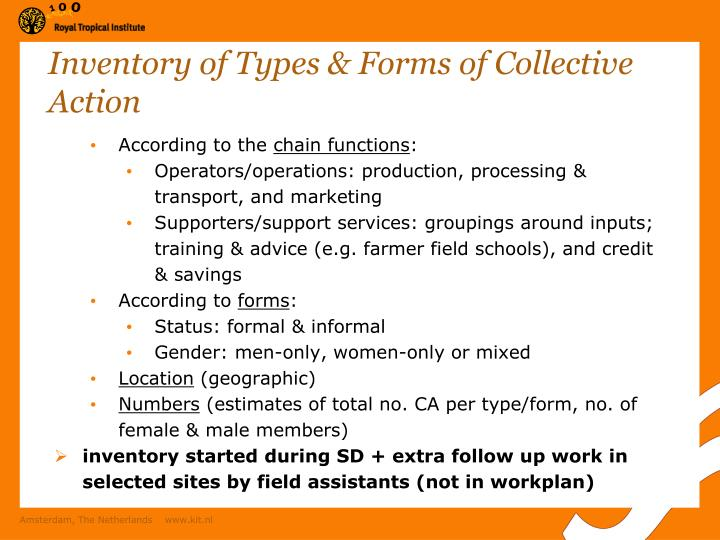 Inventory of Types & Forms of Collective Action