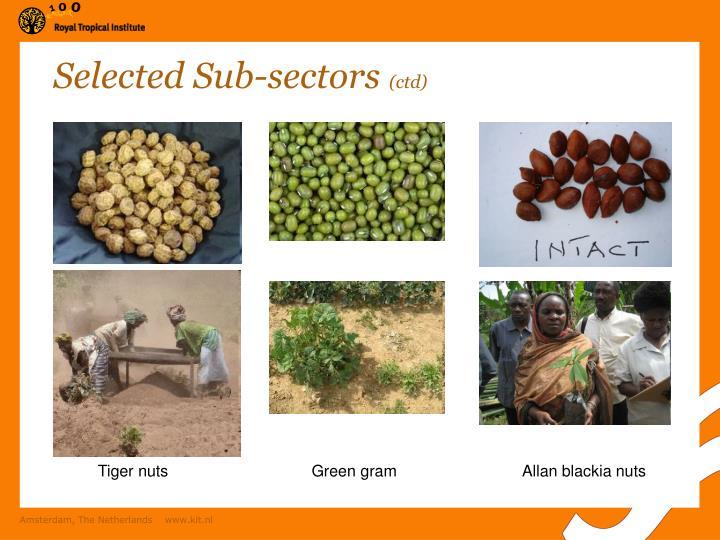 Selected Sub-sectors