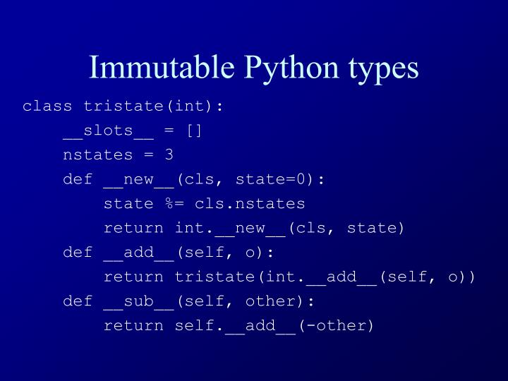 Immutable Python types