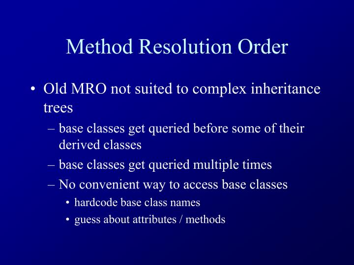 Method Resolution Order