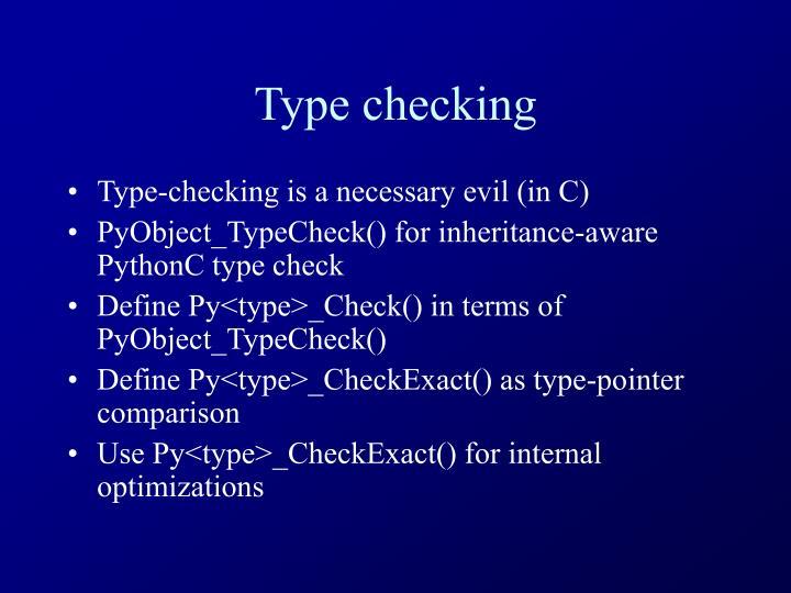 Type checking