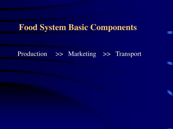 Food System Basic Components