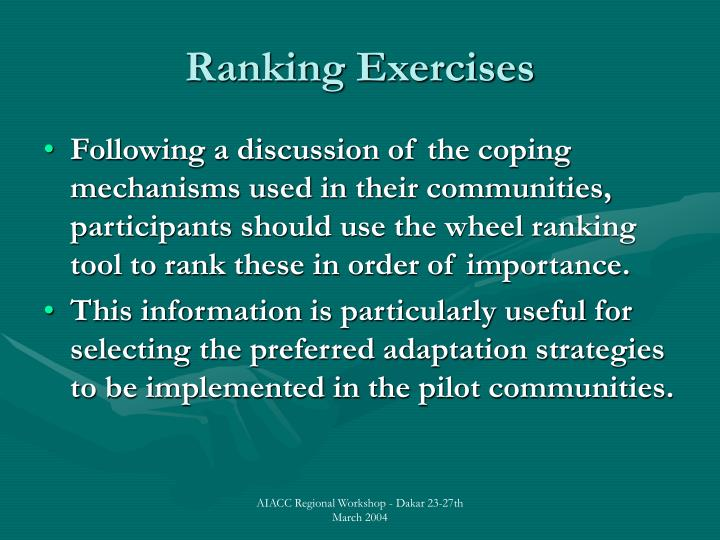 Ranking Exercises