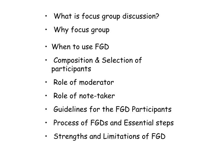 What is focus group discussion?