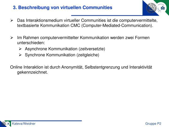 3. Beschreibung von virtuellen Communities