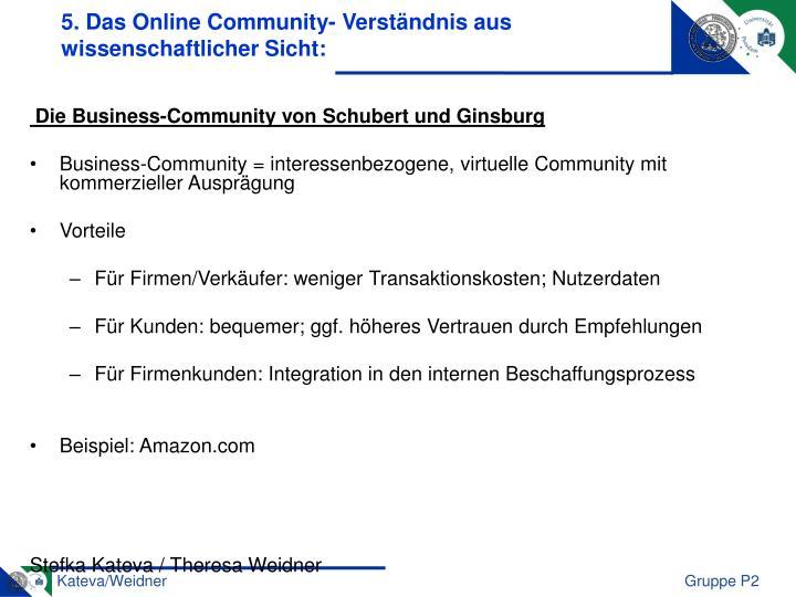 5. Das Online Community- Verständnis aus