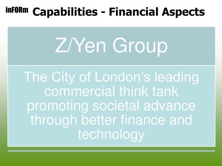 Capabilities - Financial Aspects