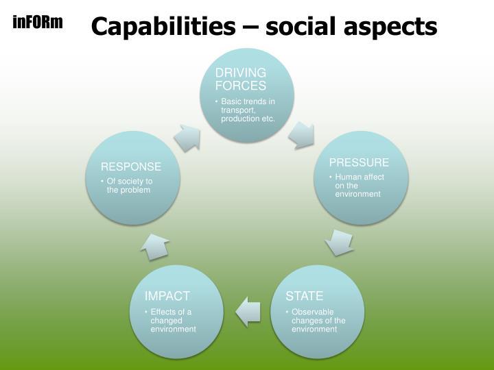 Capabilities – social aspects
