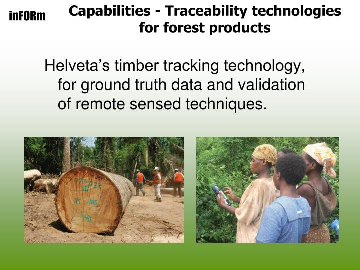 Capabilities - Traceability technologies for forest products