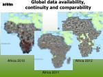 global data availability continuity and comparability